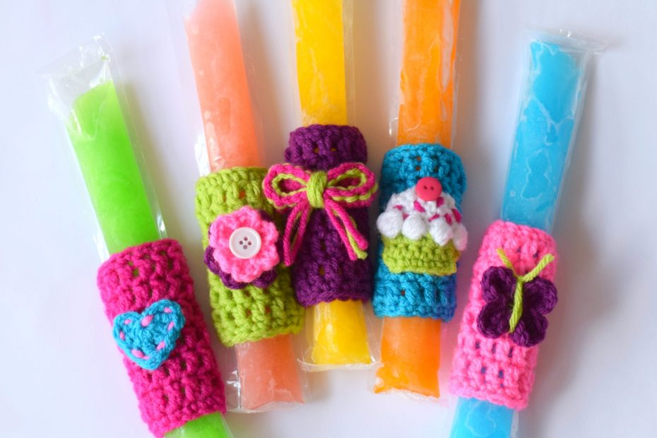 Popsicle olders with girly appliqués