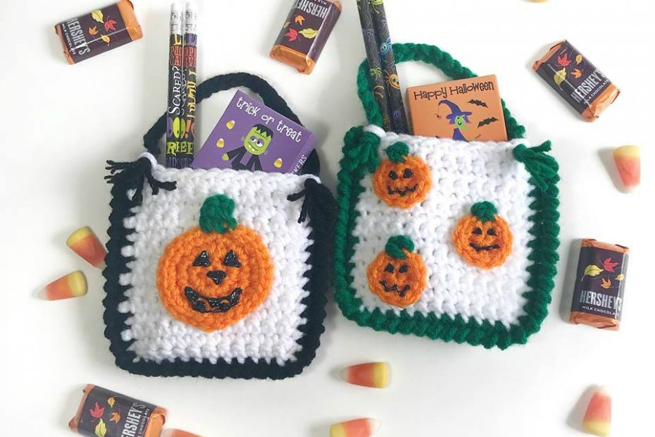 Crochet Treat Bags for Halloween