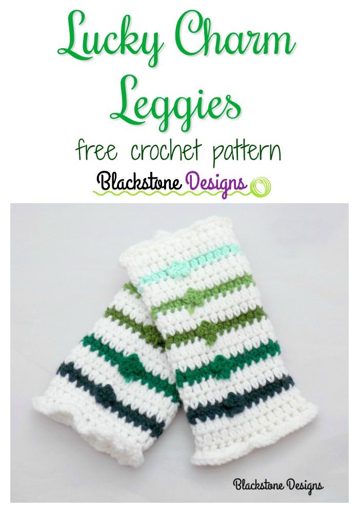 Crochet Lucky Charm Leggies - Leg Warmers for St. Patrick's Day