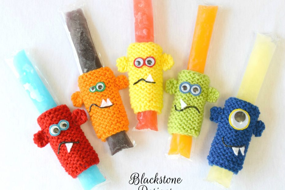 Knit cozies for freeze pops