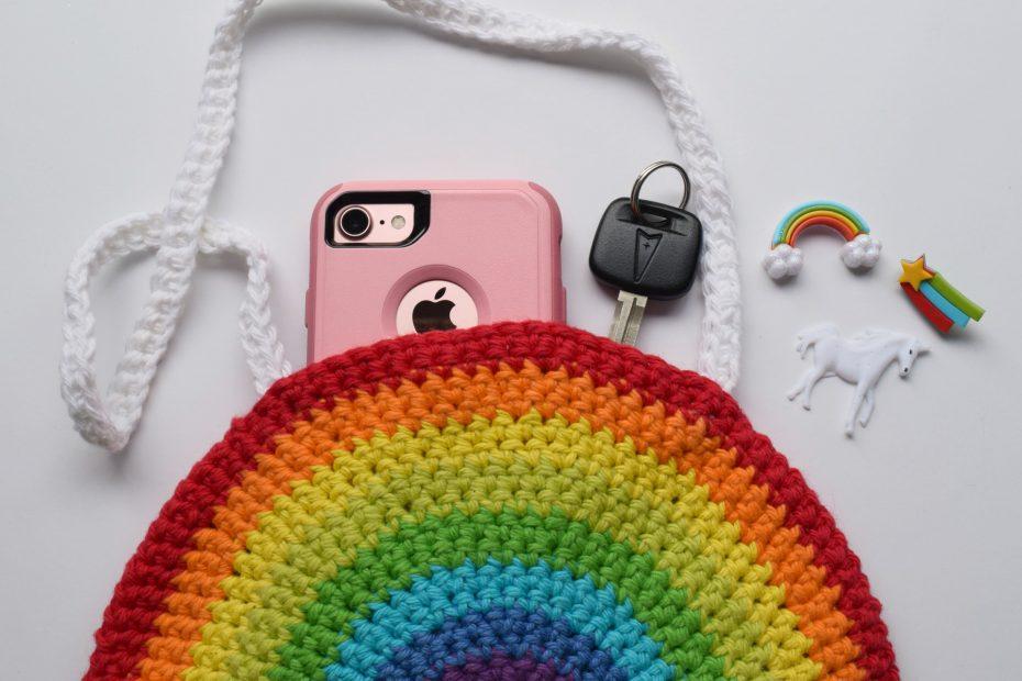 Half Circle Rainbow Purse