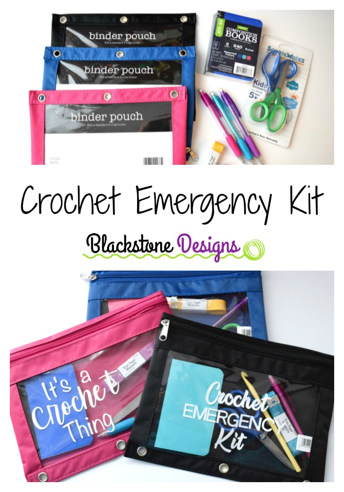 Pinterest Pin of the Crochet Emergency Kits