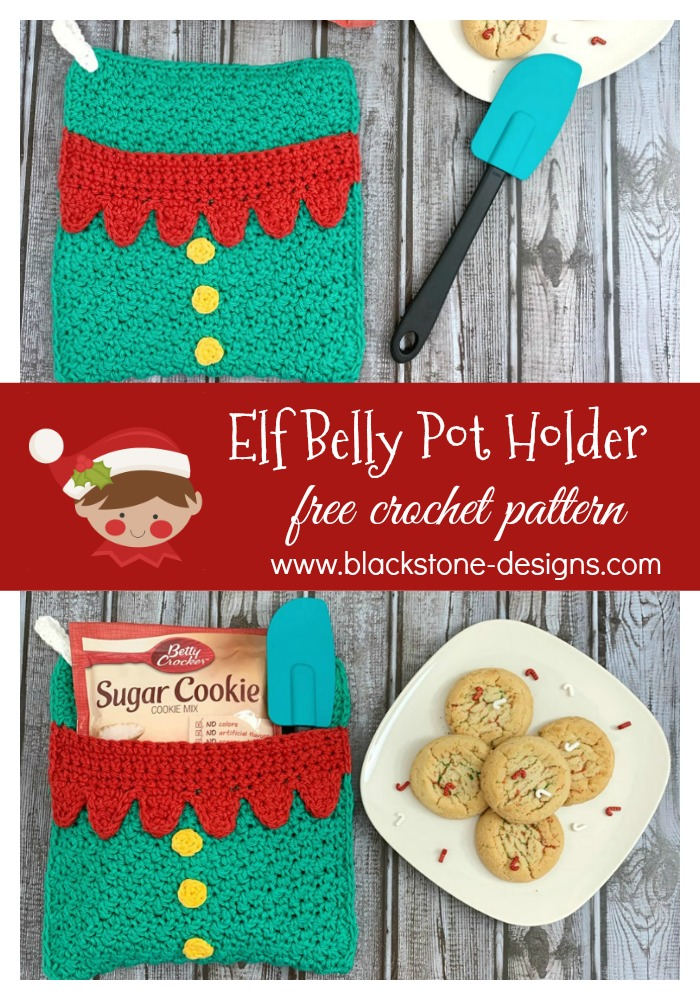 Elf Belly Pot Holder free crochet pattern