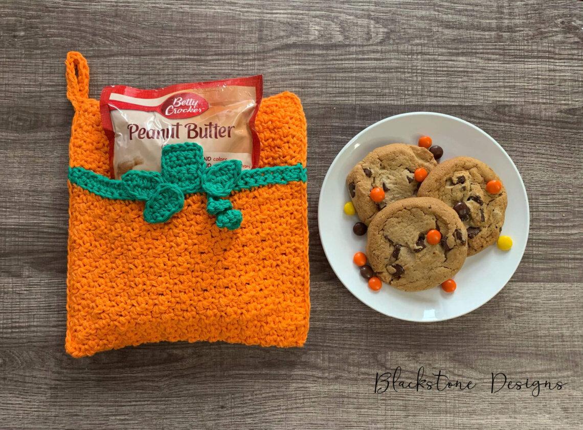 Pumpkin Or Jack O Lantern Pot Holder Free Crochet Pattern Blackstone Designs